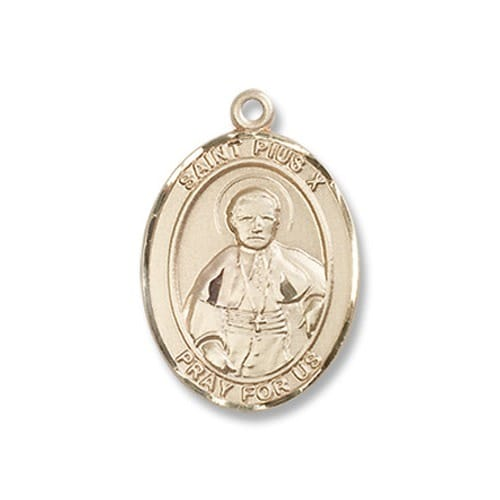 Gold St. Pius X Medal - 14KT