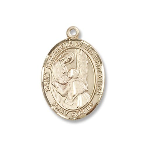 Gold St. Elizabeth of the Visitation Medal - 14KT