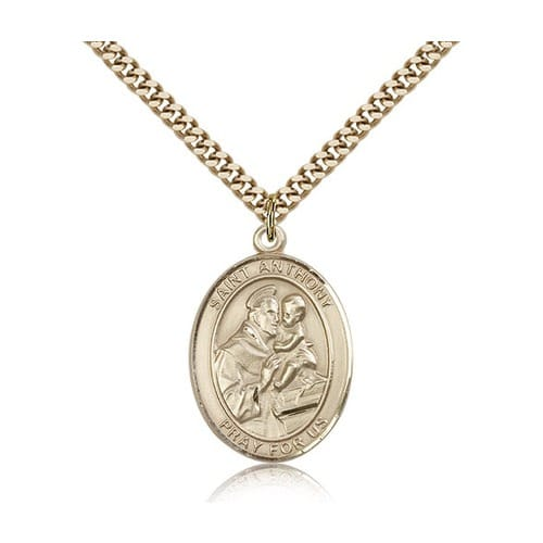 14kt gold filled st anthony of padua pendant w chain the 14kt gold filled st anthony of padua pendant w chain the catholic company aloadofball Images