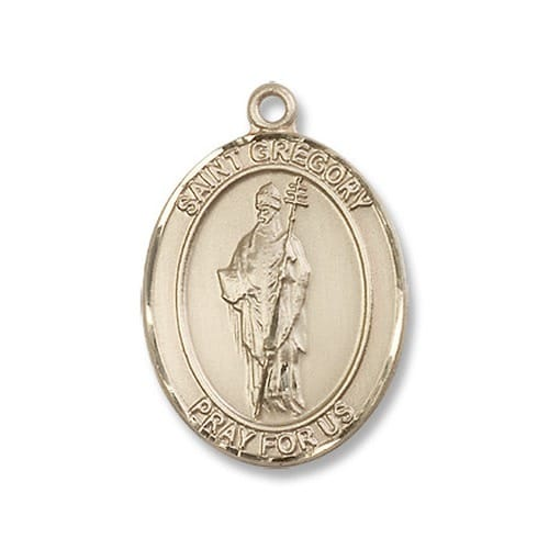 14kt Gold St. Gregory the Great Medal