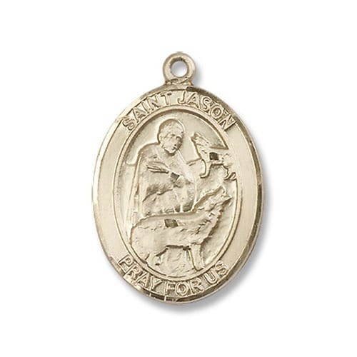 14kt Gold St. Jason Medal
