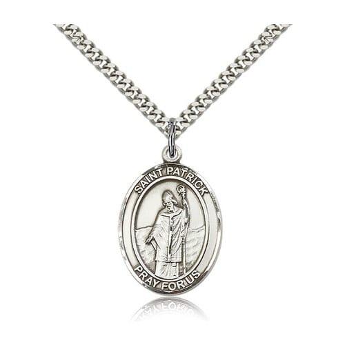 Sterling silver st patrick pendant the catholic company aloadofball Choice Image