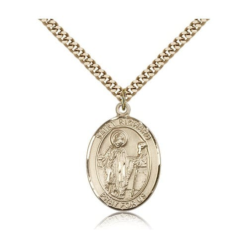 14kt Gold Filled St. Richard Pendant w/ chain