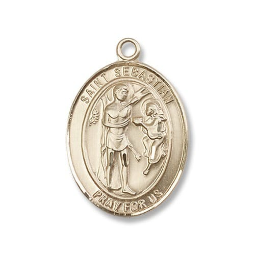 14kt gold filled st sebastian pendant w chain the catholic company aloadofball Images
