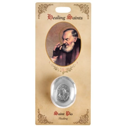 St Pio Healing Saint Pocket Stone
