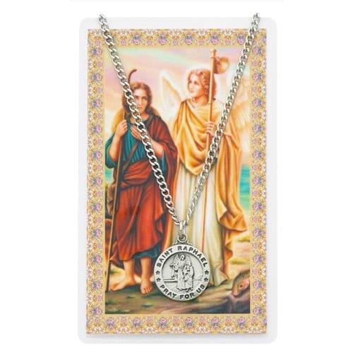 St. Raphael Prayer Card & Medal