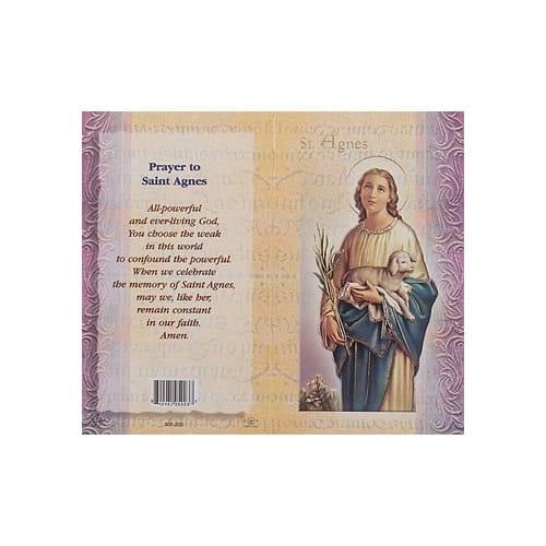 St. Agnes - Mini Lives of the Saints Folded Prayer Card