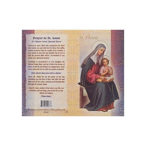 St. Anne - Mini Lives of the Saints Folded Prayer Card