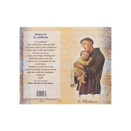 St. Anthony - Mini Lives of the Saints Folded Prayer Card