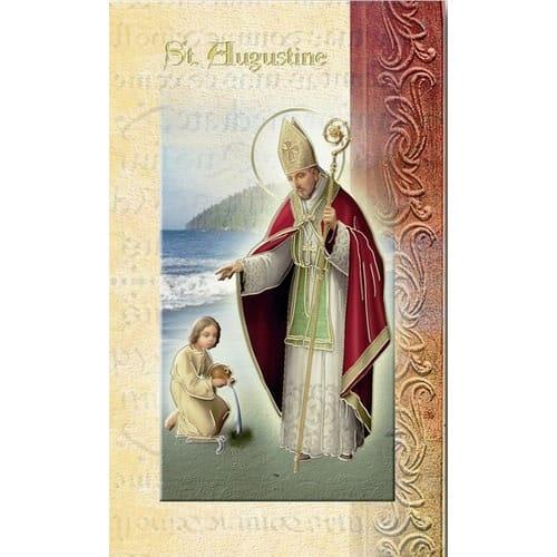 St. Augustine - Mini Lives of the Saints Folded Prayer Card