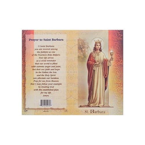 St. Barbara - Mini Lives of the Saints Folded Prayer Card