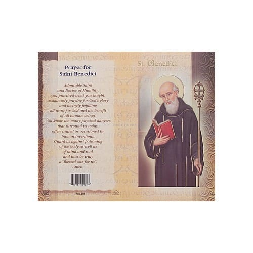 St. Benedict - Mini Lives of the Saints Folded Prayer Card