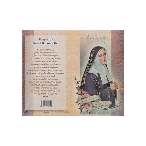 St. Bernadette - Mini Lives of the Saints Folded Prayer Card