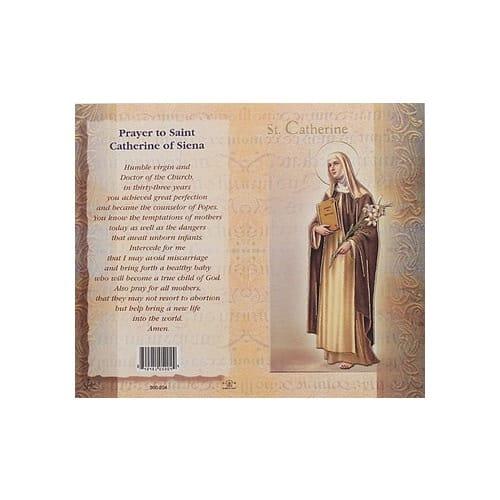 St. Catherine of Siena - Mini Lives of the Saints Folded Prayer Card