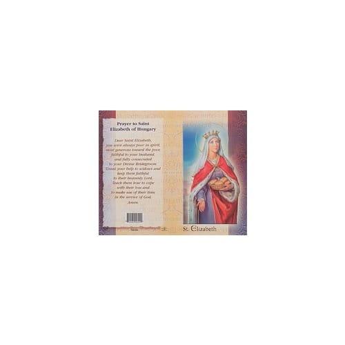 St. Elizabeth of Hungary - Mini Lives of the Saints Folded Prayer Card