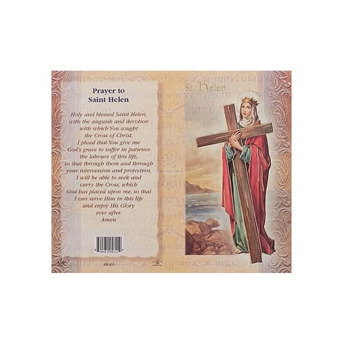 St. Helen - Mini Lives of the Saints Folded Prayer Card