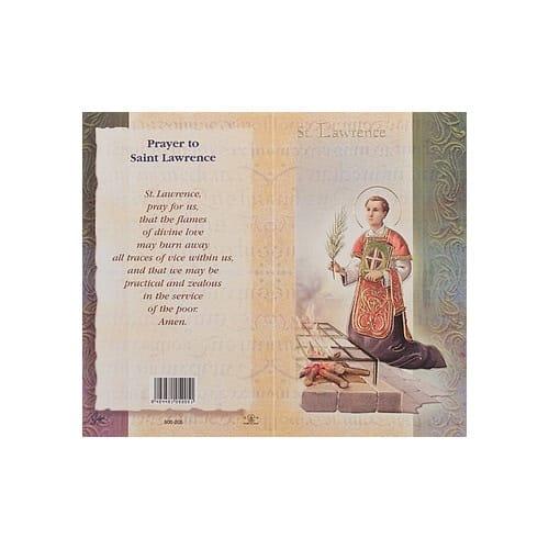 St. Lawrence - Mini Lives of the Saints Folded Prayer Card