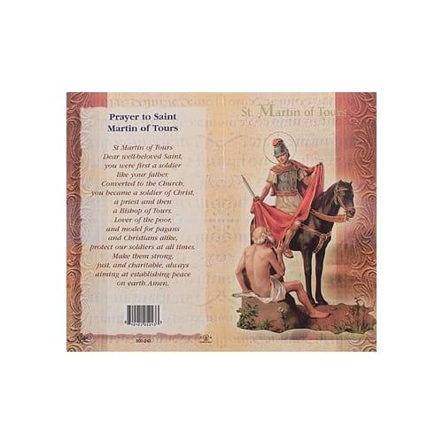St. Martin of Tours - Mini Lives of the Saints Folded Prayer Card