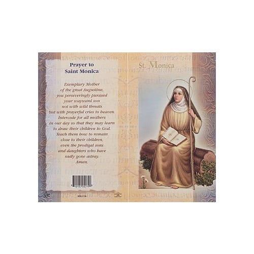 St. Monica - Mini Lives of the Saints Folded Prayer Card