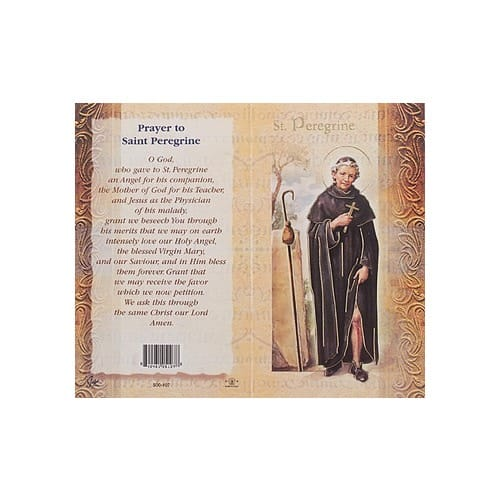 St. Peregrine - Mini Lives of the Saints Folded Prayer Card