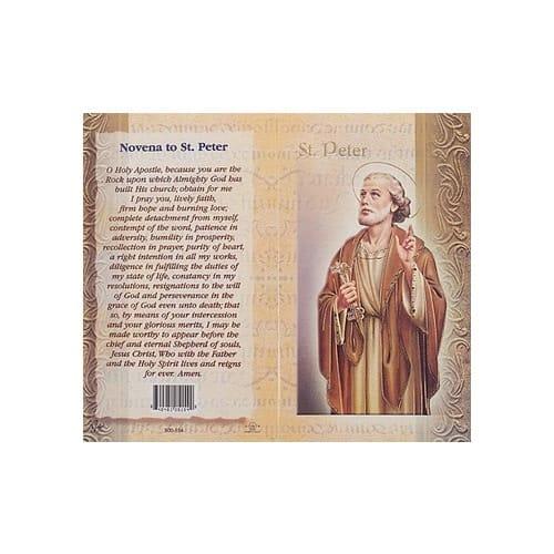 St. Peter - Mini Lives of the Saints Folded Prayer Card
