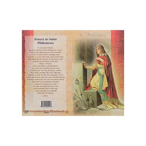 St. Philomena - Mini Lives of the Saints Folded Prayer Card