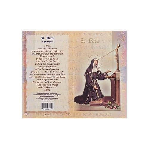 St. Rita - Mini Lives of the Saints Folded Prayer Card