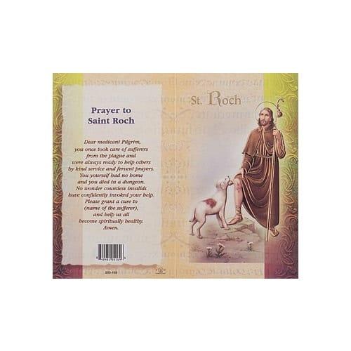 St. Roch - Mini Lives of the Saints Folded Prayer Card