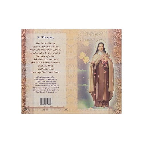 St. Therese of Lisieux - Mini Lives of the Saints Folded Prayer...