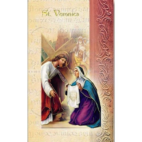St. Veronica - Mini Lives of the Saints Folded Prayer Card