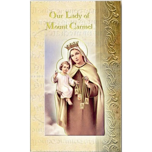 Our Lady of Mt  Carmel - Folded Prayer Card