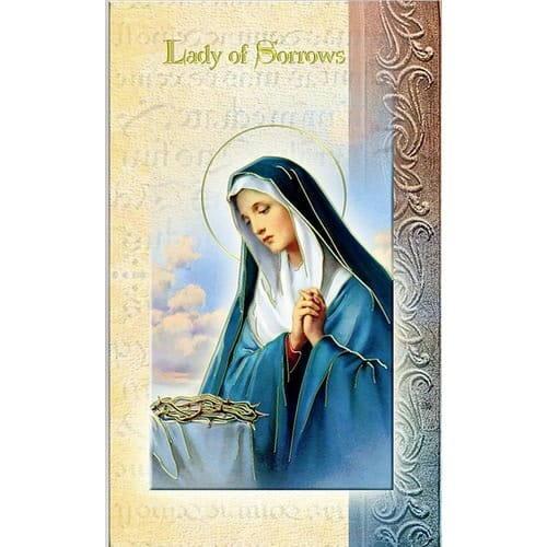 Our Lady of Sorrows - Folded Prayer Card