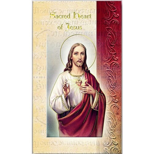 Sacred Heart of Jesus - Folded Prayer Card