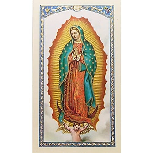 Nuestra Senora de Guadalupe (Our Lady of Guadalupe) – Spanish Prayer Card
