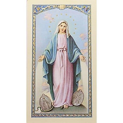 Oración a la Milagrosa (Our Lady of Grace) – Spanish Prayer Card