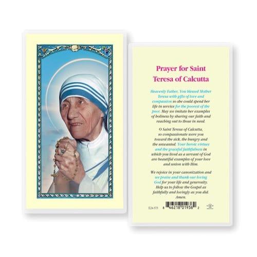 Saint Teresa of Calcutta - Prayer Card