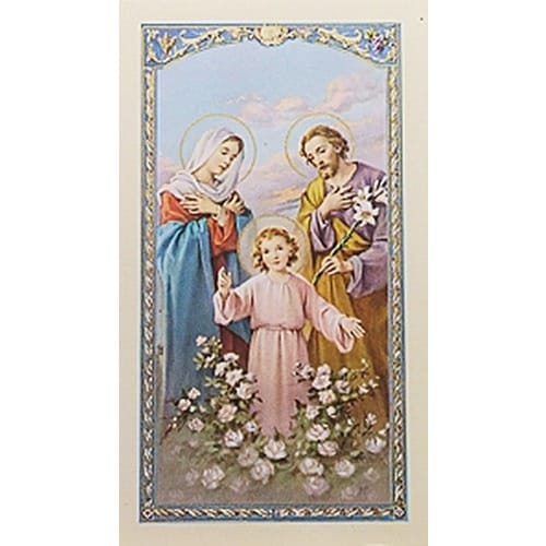 Prayer for a Family - Holy Family Prayer Card