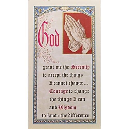 The Gal In The Glass - Serenity Prayer - Prayer Card