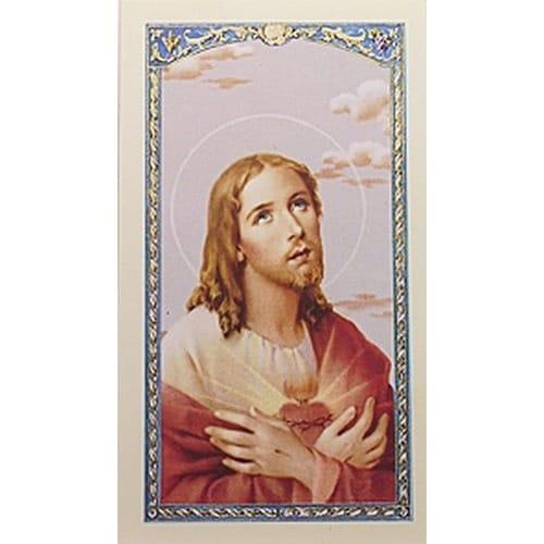Sacred Heart of Jesus - In Appreciation - Prayer Card