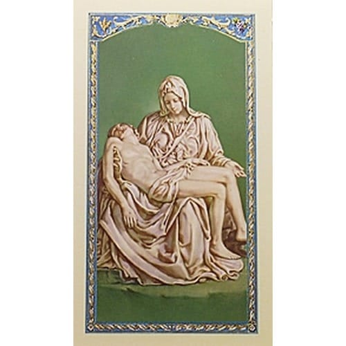 Pieta - Mother of Sorrow - Prayer Card