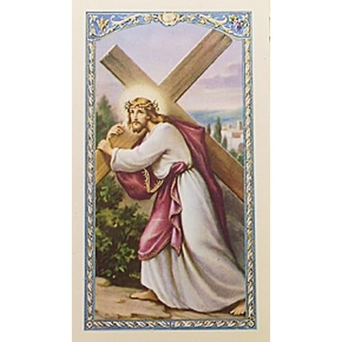 Your Cross - Christ with Cross - Prayer Card
