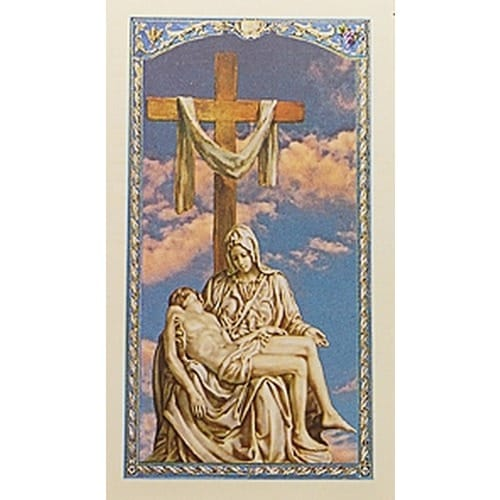 Prayer for Widows and Widowers - Pieta - Prayer Card