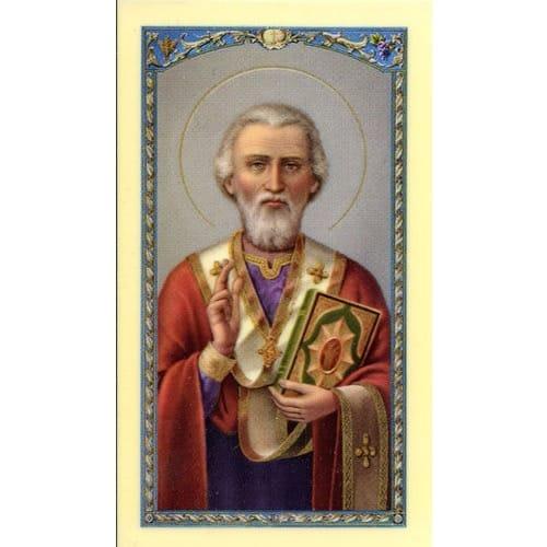 St. Nicholas – A Prayer for Children - Prayer Card