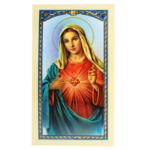 Novena Prayer to the Immaculate Heart of Mary - Prayer Card