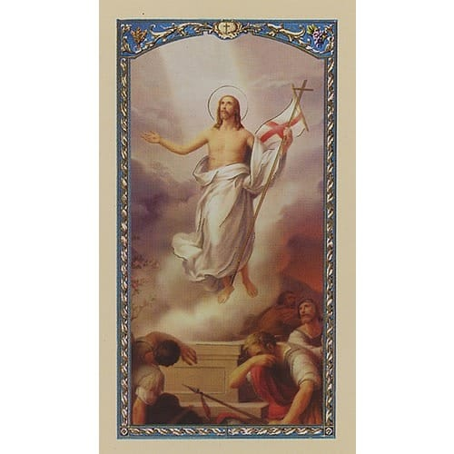 Saint Gregory the Great's Easter Prayer - Resurrected Christ - Prayer Card