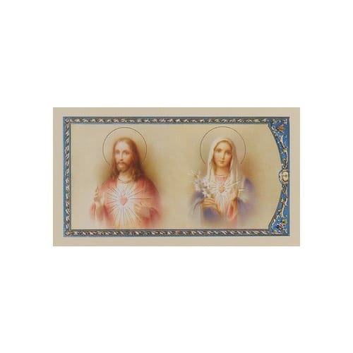 Prayer of Consecration - Sacred Heart of Jesus and Immaculate Heart of Mary - Prayer Card
