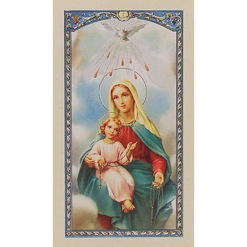Mother Mary with Child Jesus - My Rosary - Prayer Card