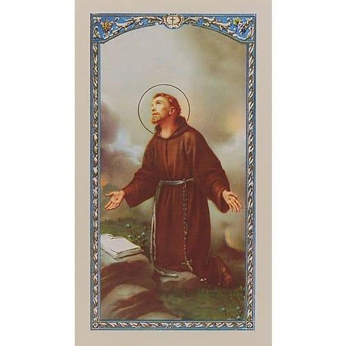 picture relating to Surrender Novena Printable titled Novena toward St. Francis of Assisi - Prayer Card