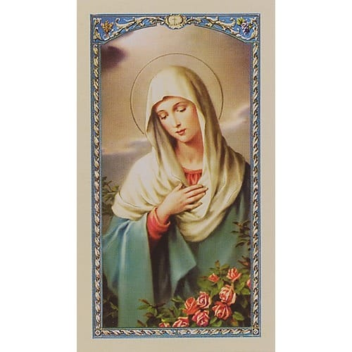 Prayer to Immaculate Virgin - Prayer Card