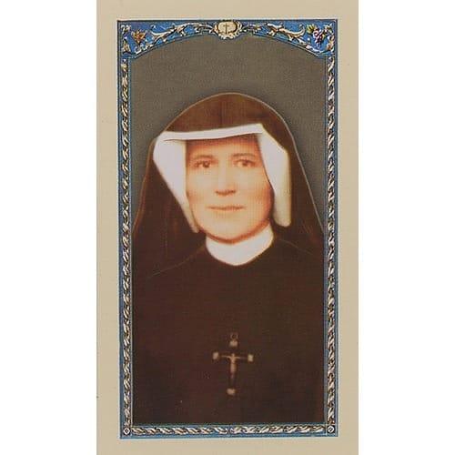 Prayer to St. Maria Faustina - Prayer Card